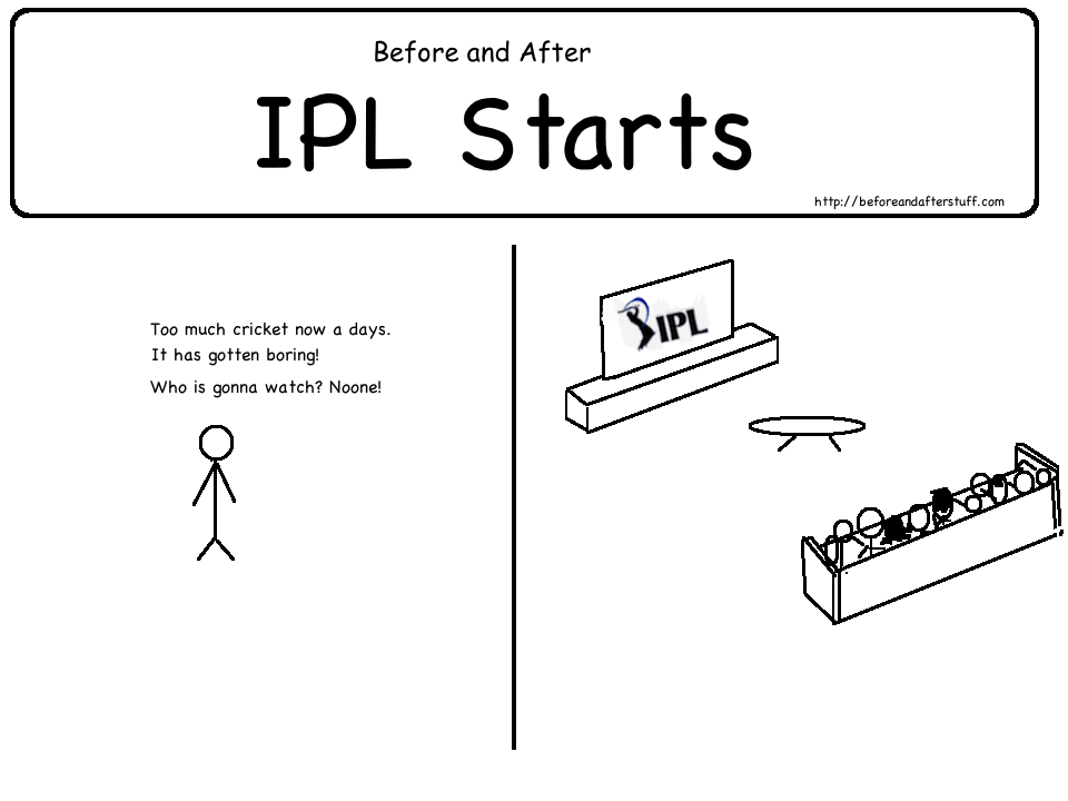 Before and After IPL Starts