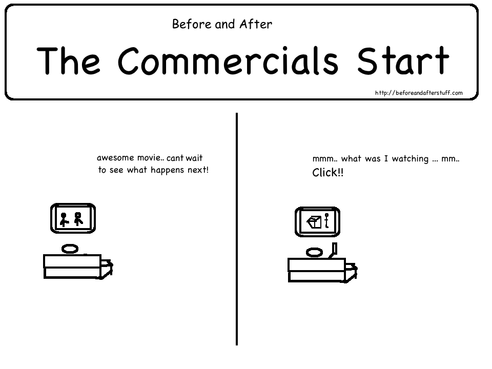 Before and After the Commercials Start