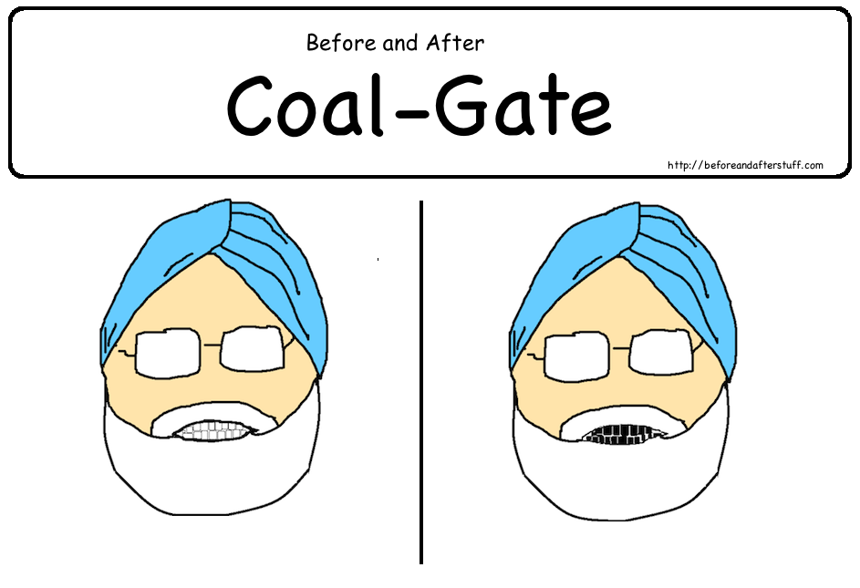 Manmohan Singh Before and After Coal Gate