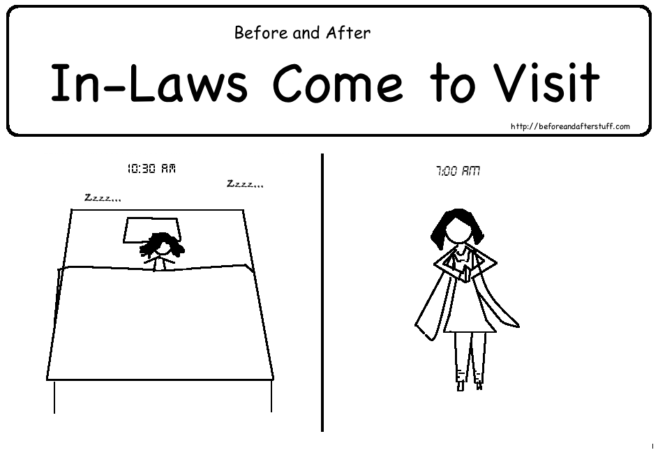 before and after in laws come to visit web comic in laws 943x645
