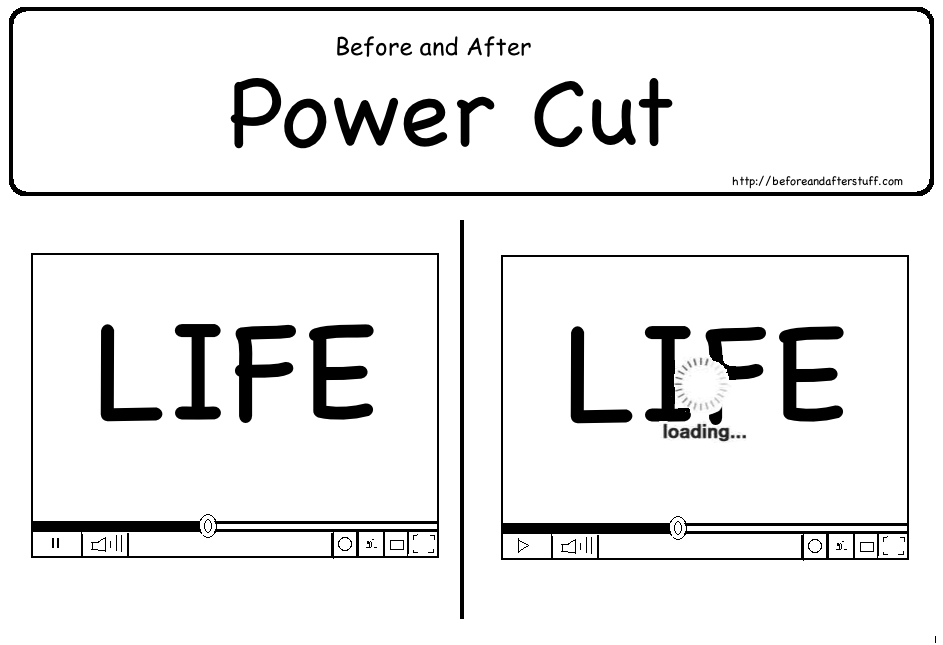 Before and After Power Cut