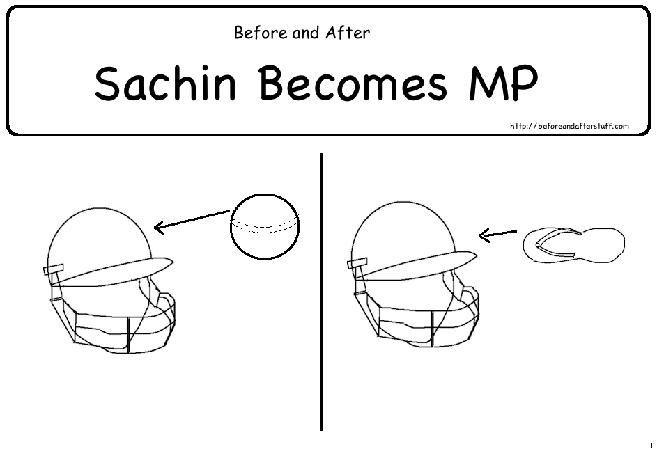 Before and After Sachin becomes MP