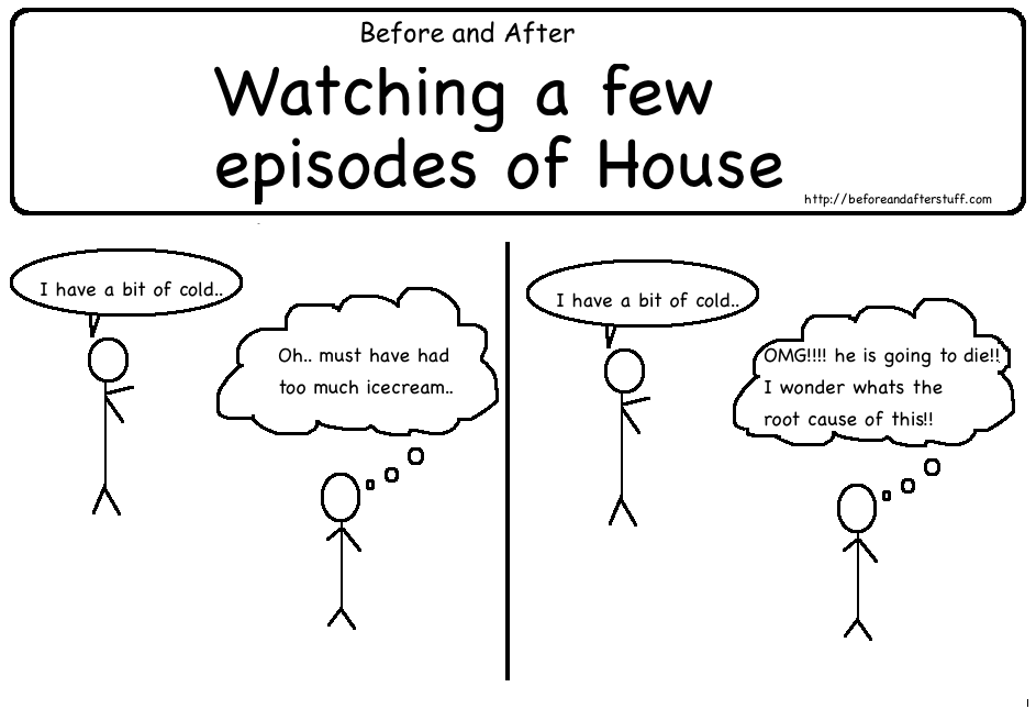 Before and After Watching few Episodes of House