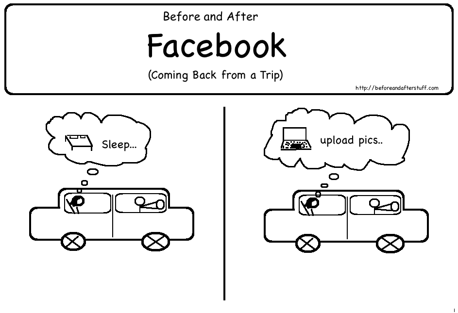 Before and After Facebook (Coming back from a Trip)
