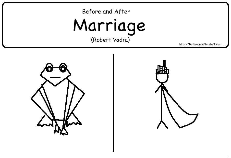 Before and After Marriage (Robert Vadra)