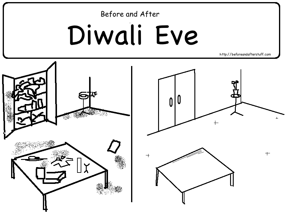 before and After Diwali Eve