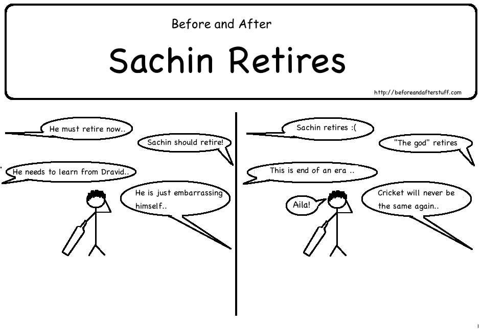 Before and After Sachin Retires