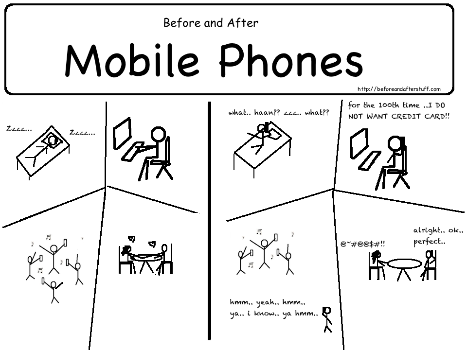 Before and After Mobile Phones