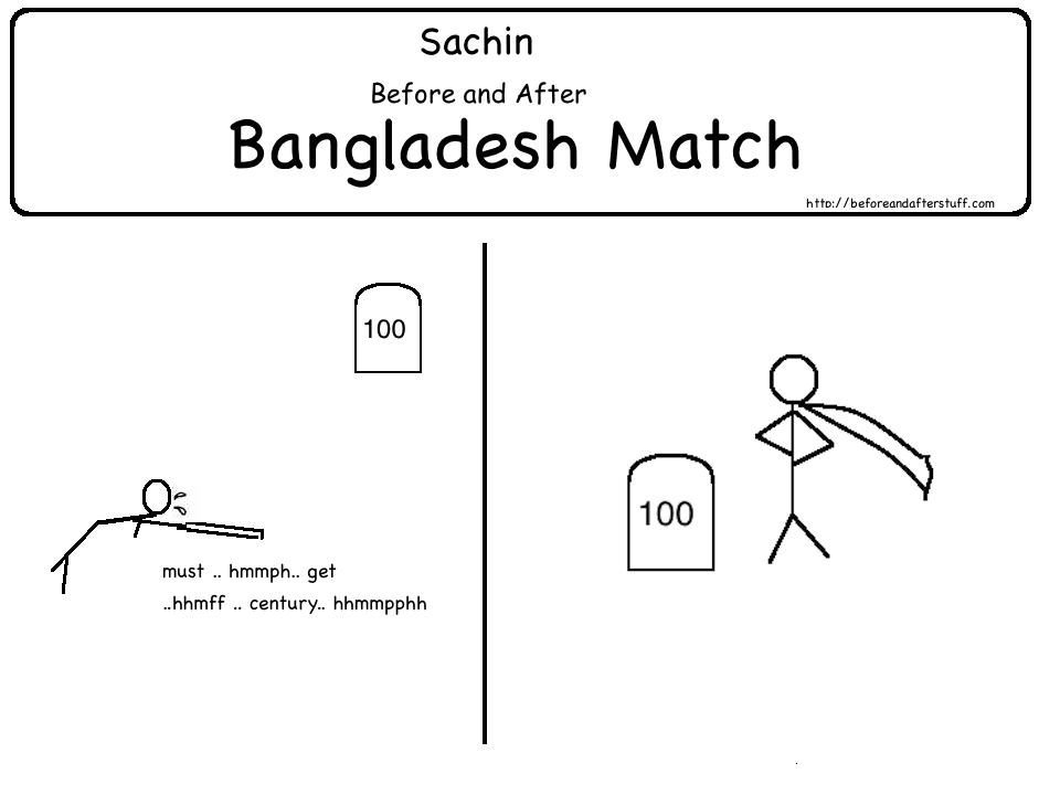Sachin Before and After Bangladesh Match