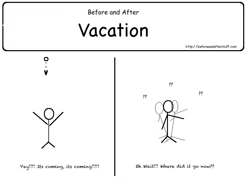 Before and After the Vacation