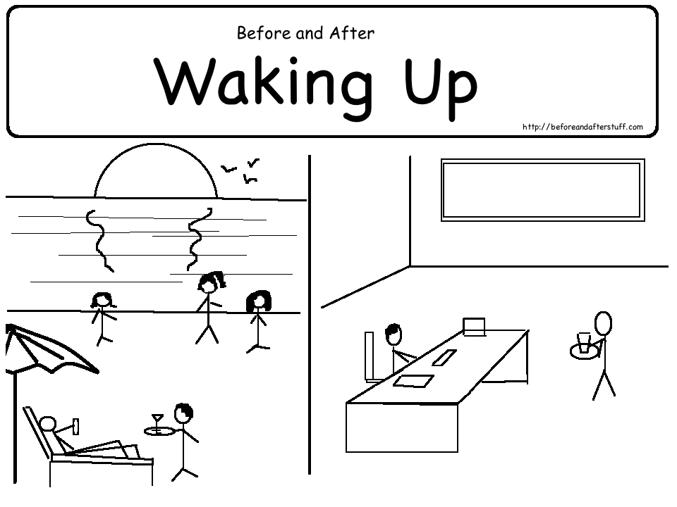 Before and After waking up